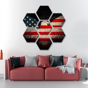 American Eagle Flag Multi Panel Canvas Wall Art - America