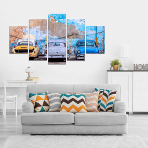 Rustic Cars In Trinidad Multi Panel Canvas Wall Art - Latin