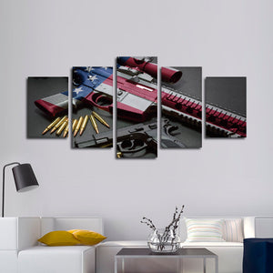 American Pride Multi Panel Canvas Wall Art - America