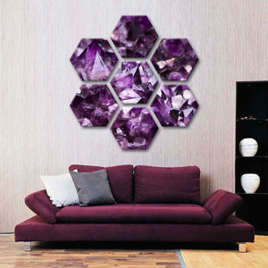 Amethyst Geode Multi Panel Canvas Wall Art - Color