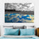 Amusement Park Reflection Pop Multi Panel Canvas Wall Art