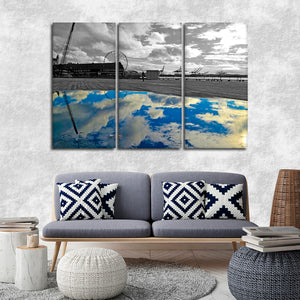 Amusement Park Reflection Pop Multi Panel Canvas Wall Art - Sky