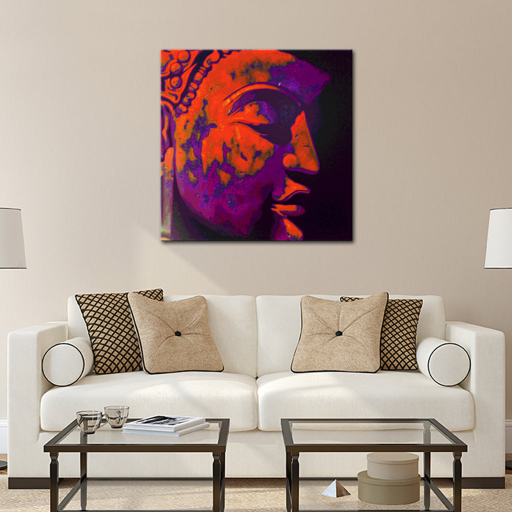 Ananda buddha canvas wall art elephantstock