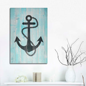 Anchor Yourself Multi Panel Canvas Wall Art - Nautical