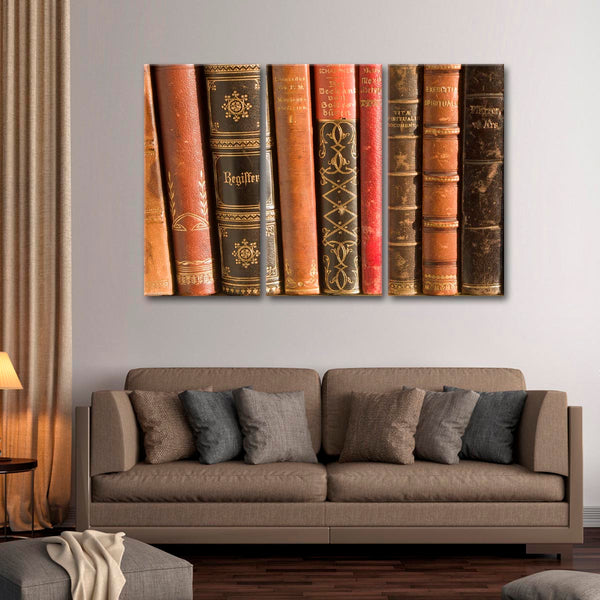 Ancient Books Multi Panel Canvas Wall Art
