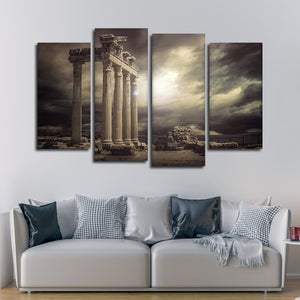 Ancient Greek Ruins Multi Panel Canvas Wall Art - Landmarks