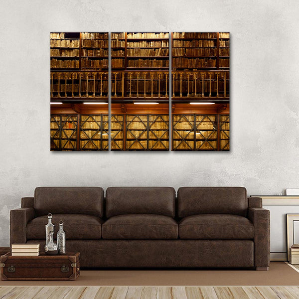 Ancient Library Multi Panel Canvas Wall Art
