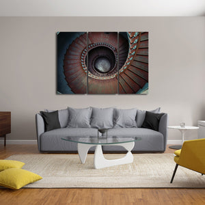 Ancient Staircase Multi Panel Canvas Wall Art - Stairs