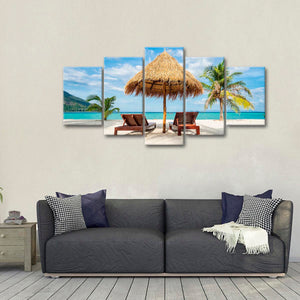 Andaman Tranquility Multi Panel Canvas Wall Art - Beach