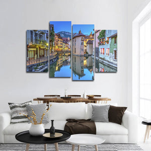 Annecy Multi Panel Canvas Wall Art - City