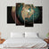 Antique Globe Multi Panel Canvas Wall Art