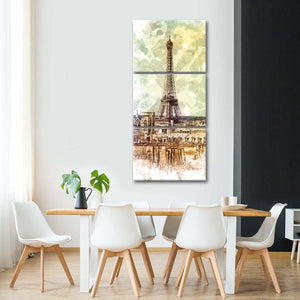 Archaic Paris Multi Panel Canvas Wall Art - Paris
