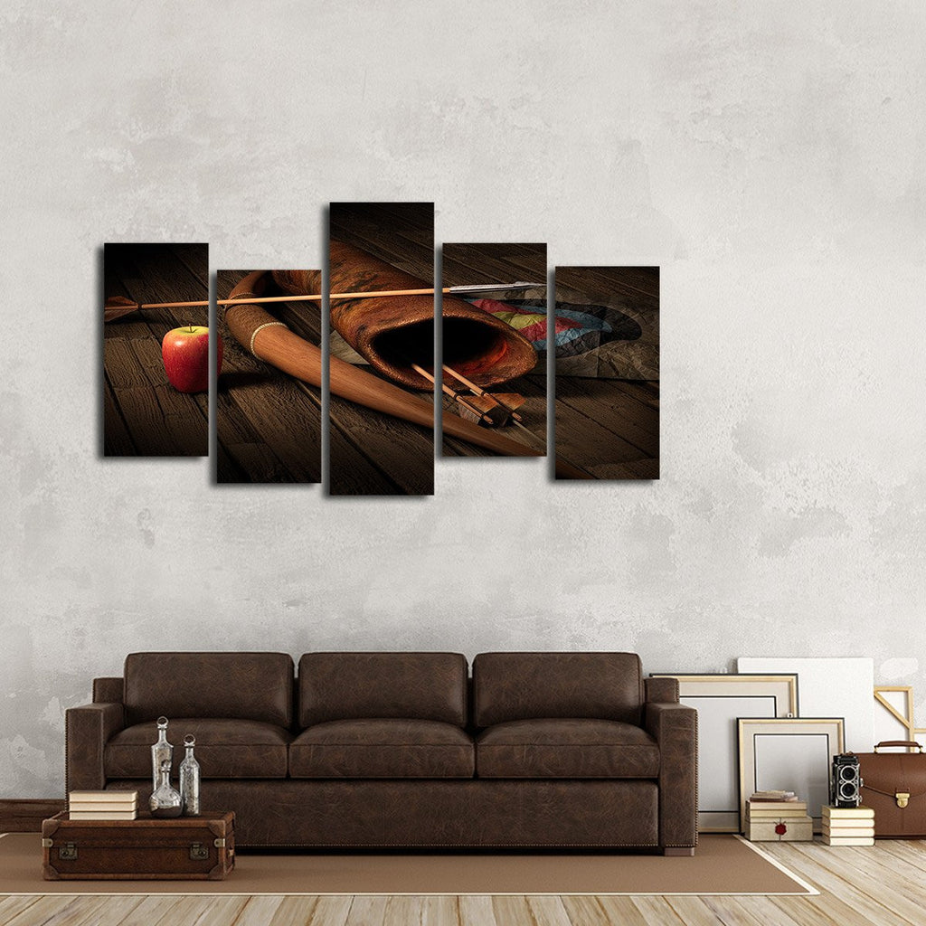 archery multi panel canvas wall art elephantstock. Black Bedroom Furniture Sets. Home Design Ideas