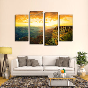 Arizona Sunset Multi Panel Canvas Wall Art - Nature
