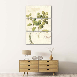 Aromantique III Multi Panel Canvas Wall Art - Botanical
