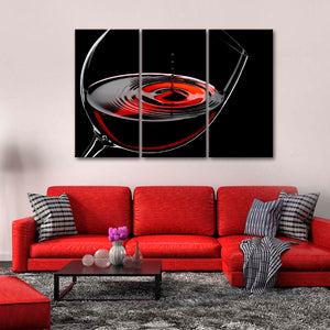 Aromatic Red Wine Multi Panel Canvas Wall Art - Winery