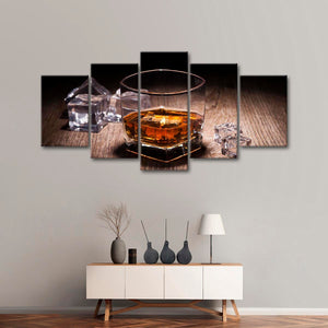 Aromatic Whiskey Multi Panel Canvas Wall Art - Whiskey