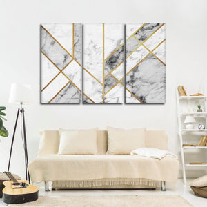 Art Deco Multi Panel Canvas Wall Art - Geometric