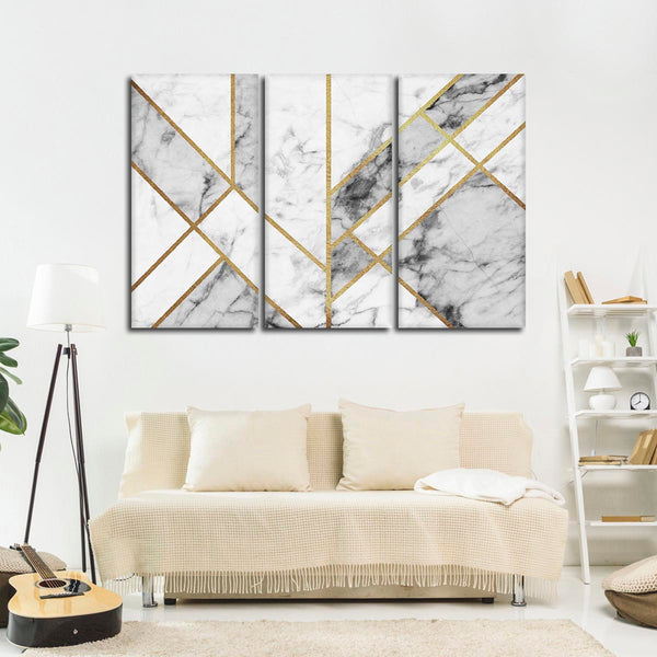 Art Deco Multi Panel Canvas Wall Art