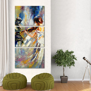 Artist's Soul Multi Panel Canvas Wall Art - Music