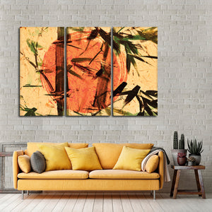 Asian Bamboo Multi Panel Canvas Wall Art - Asian