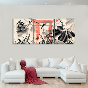 Asian Scenery Multi Panel Canvas Wall Art - Asian