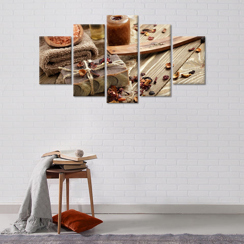 Asian Spa Multi Panel Canvas Wall Art