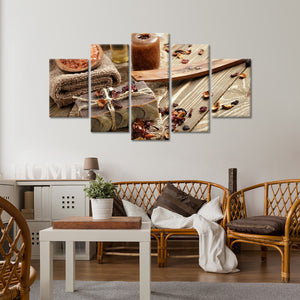 Asian Spa Multi Panel Canvas Wall Art - Spa