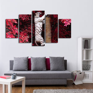 Asian Tiger Multi Panel Canvas Wall Art - Tiger