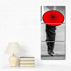 Asian Umbrella Pop Multi Panel Canvas Wall Art - Asian