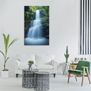 Asian Waterfall Multi Panel Canvas Wall Art - Nature