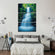 Asian Waterfall Multi Panel Canvas Wall Art