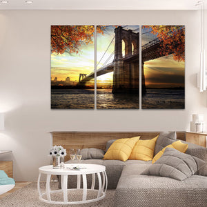 Astoria Park Scenery Multi Panel Canvas Wall Art - City