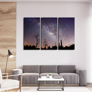 Astronomical Trees Multi Panel Canvas Wall Art - Astronomy