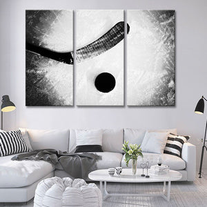 Attack Zone Multi Panel Canvas Wall Art - Hockey