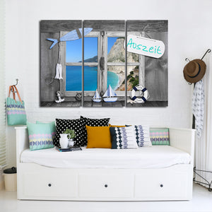 Auszeit Multi Panel Canvas Wall Art - Beach