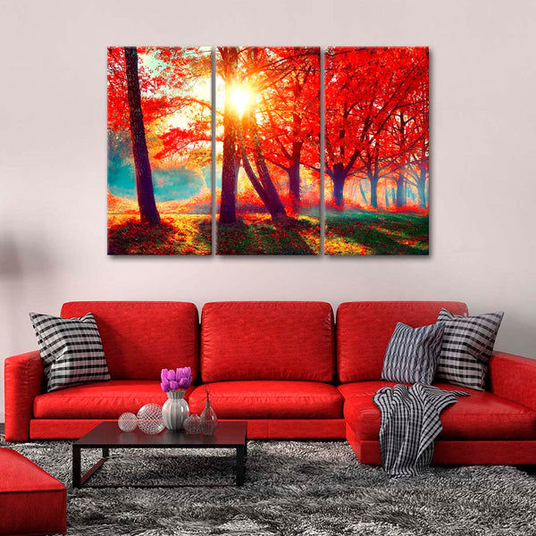 Autumn Nature Soul Multi Panel Canvas Wall Art