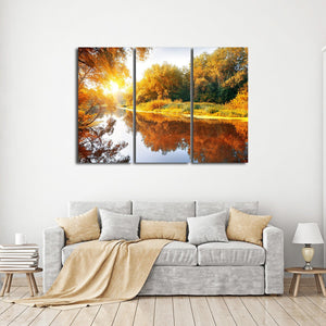 Autumn Season Multi Panel Canvas Wall Art - Nature