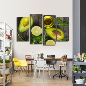 Avocado Delight Multi Panel Canvas Wall Art - Kitchen