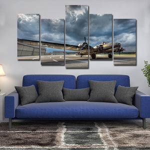 B17 Multi Panel Canvas Wall Art - Airplane