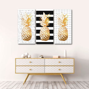 Pineapple Passion Canvas Set Wall Art - Pineapple