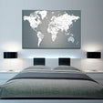 Push Pin World Map Multi Panel Canvas Wall Art