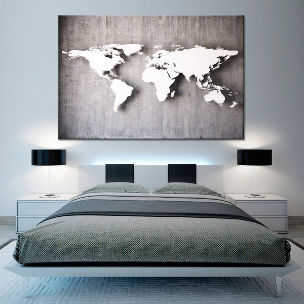 3d iron world map multi panel canvas wall art elephantstock 3d iron world map multi panel canvas wall art gumiabroncs Image collections