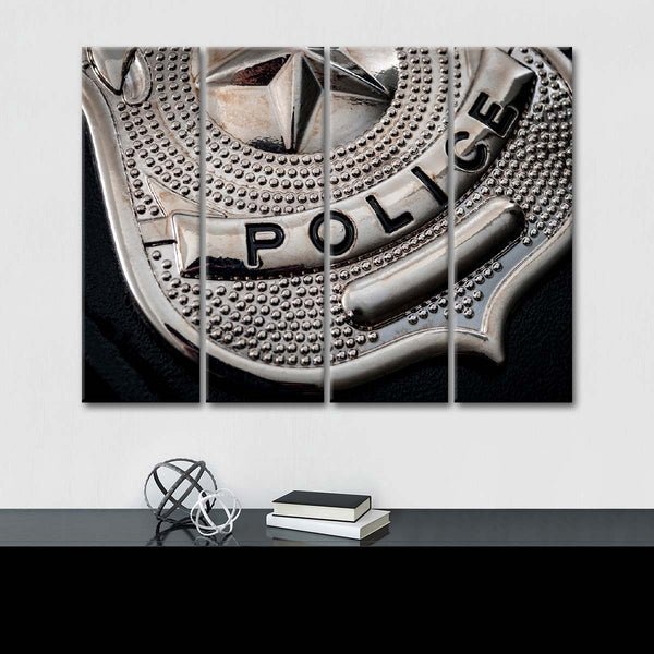 Badge of Honor Multi Panel Canvas Wall Art