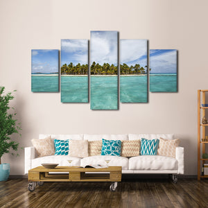 Bahamas Island Multi Panel Canvas Wall Art - Beach