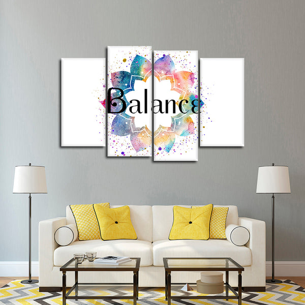 Balance Multi Panel Canvas Wall Art