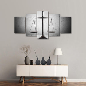 Balanced Justice Multi Panel Canvas Wall Art - Law