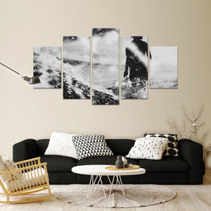 Bali Surfing Multi Panel Canvas Wall Art - Surfing