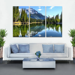 Banff National Park Multi Panel Canvas Wall Art - Nature