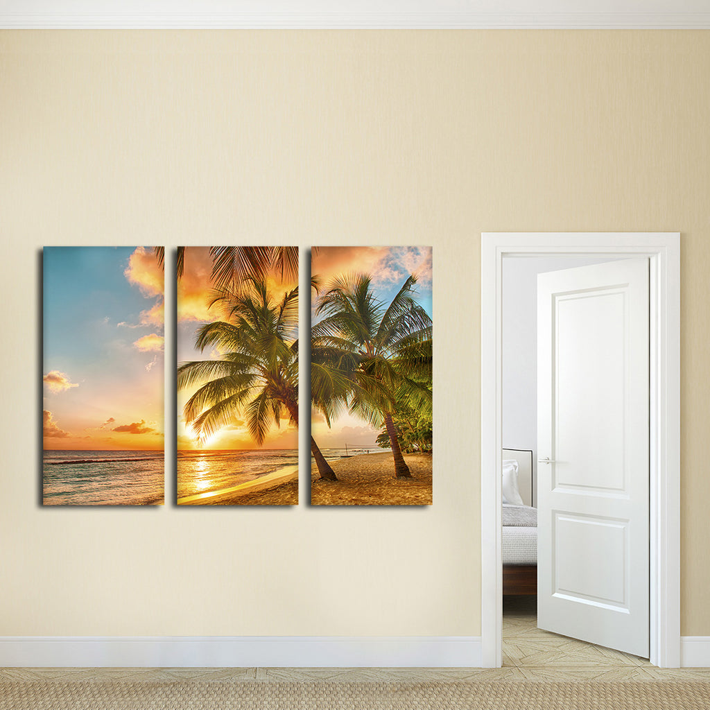Barbados Island Multi Panel Canvas Wall Art Elephantstock